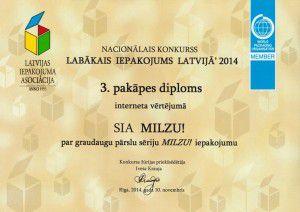 Labākais iepakojums Latvijā ' 2014