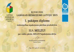 Labākais iepakojums Latvijā ' 2015