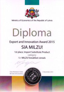Export and Innovation Award 2015